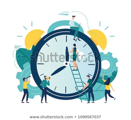 temps · équipe · horloge · mots · blanche · travaux - photo stock © kbuntu