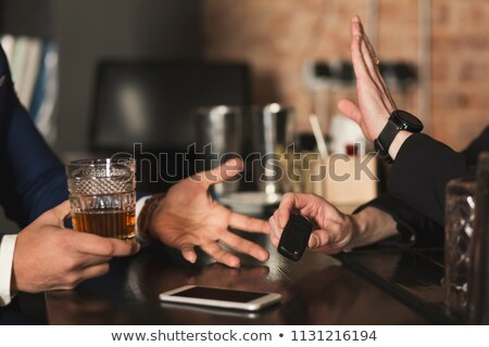choose drunk or sober  Stock photo © morrbyte