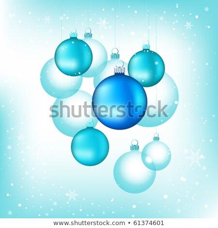 Noel süslemeleri ağaç top kırmızı Stok fotoğraf © damonshuck