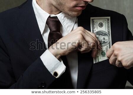dollár · zseb · üzlet · öltöny · egy · száz - stock fotó © paha_l