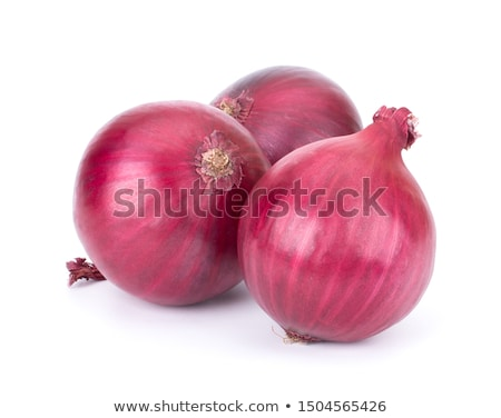 harvested red onions in background stock photo © dacasdo