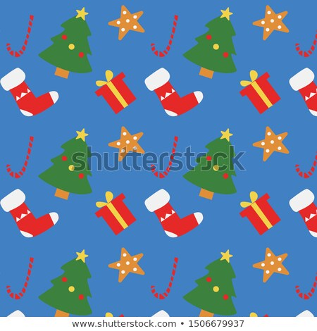 Cute warm color christmas card. EPS 8 Stock photo © beholdereye