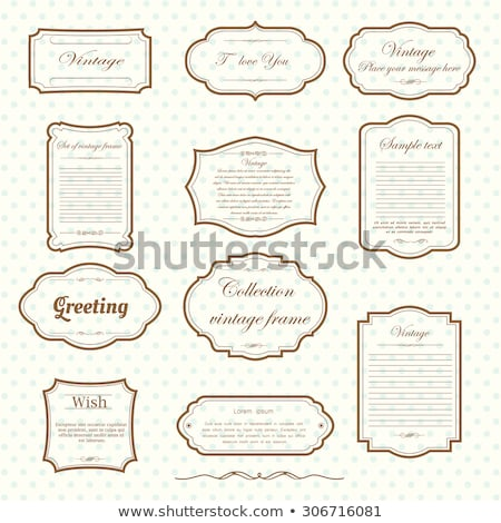 vintage frames, vector set Stock photo © beaubelle