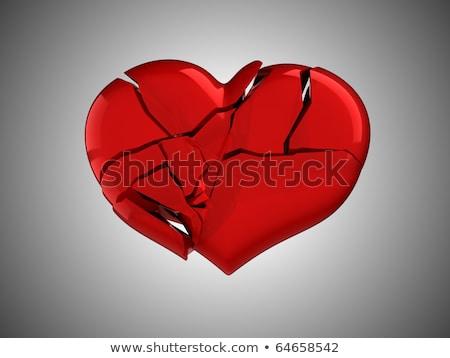 Broken Heart Unrequited Love Or Death Stok fotoğraf © Arsgera