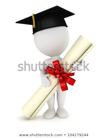 3d small people - diploma Stock photo © AnatolyM