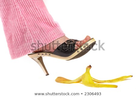 female legfoot and peel of a banana life insurance stock photo © cookelma