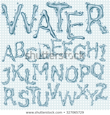 vetor · água · carta · alfabeto · abstrato · arte - foto stock © Misha
