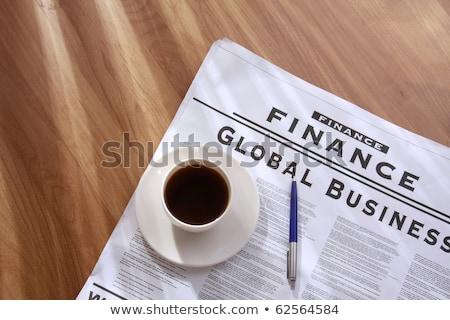 café · periódico · negocios · oficina · noticias · espacio - foto stock © zeffss