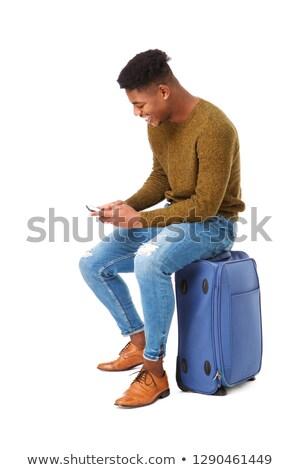 黒 · スーツケース · 孤立した · 白 · テクスチャ · 旅行 - ストックフォト © zeffss