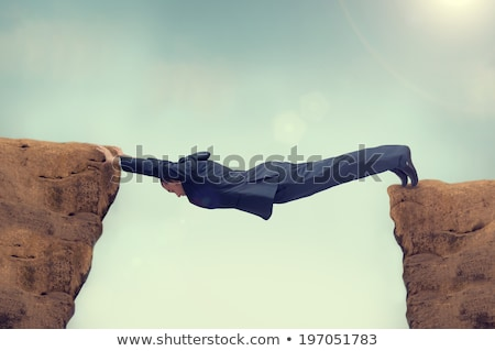 Rock lugar azul negro color flecha Foto stock © latent