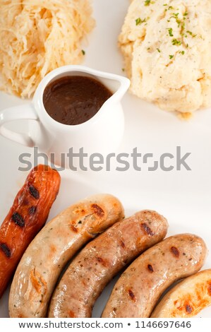 selection of all main type of german wurstel saussages Stock photo © keko64