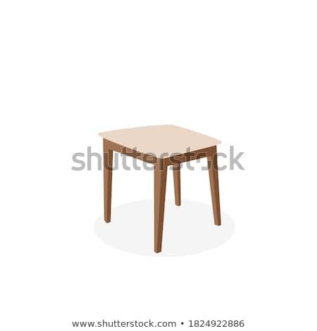 Beyaz koltuk modern iç sandalye lamba Stok fotoğraf © ElaK