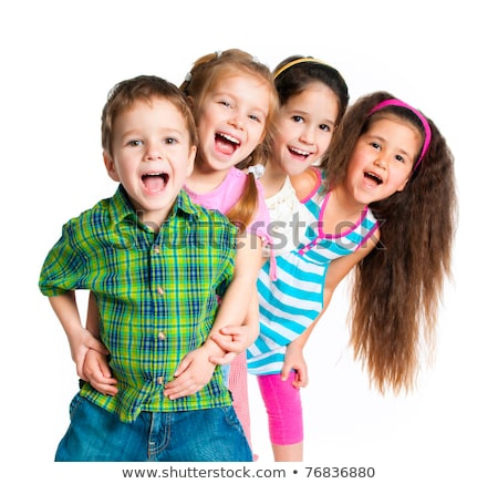 Porträt · glücklich · Kind · isoliert · weiß · Haar - stock foto © dacasdo