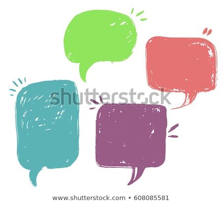 Dialog niebieski Chmura balony rozmowy wektora Zdjęcia stock © Galyna