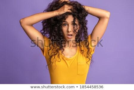 若い女性 · 髪 · 外に · クローズアップ · 少女 - ストックフォト © dacasdo