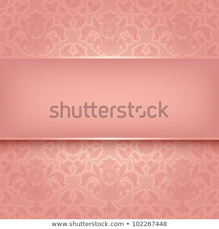 Pink fabric curtain with ornament, background, Eps10 stock photo © Ecelop