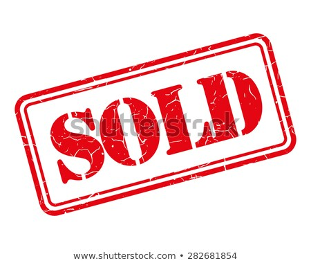 Sold rubber stamp stock photo © IMaster