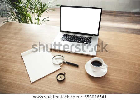 nagyító · számjegyek · üzlet · kutatás · közelkép · papír - stock fotó © theprophet