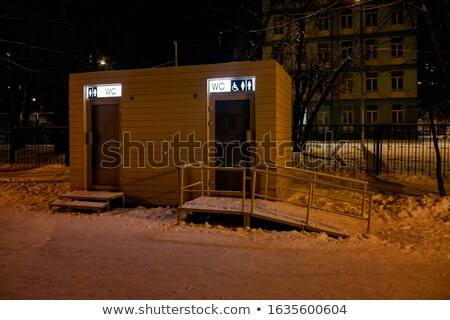 Kamu tuvalet iç yeşil fayans kâğıt Stok fotoğraf © Ciklamen