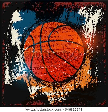 koszos · absztrakt · grunge · kosárlabda · festék · sportok - stock fotó © fet
