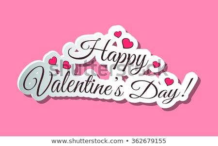 képeslap · szív · valentin · nap · graffiti · esküvő · absztrakt - stock fotó © fet
