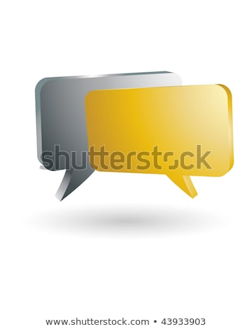 gold and silver speech bubbles stock photo © marish