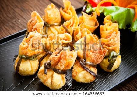 Asiático frito prato doce molho bambu Foto stock © mroz