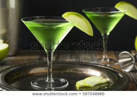 Maçã martini martini glass suco de maçã natureza fruto Foto stock © mroz