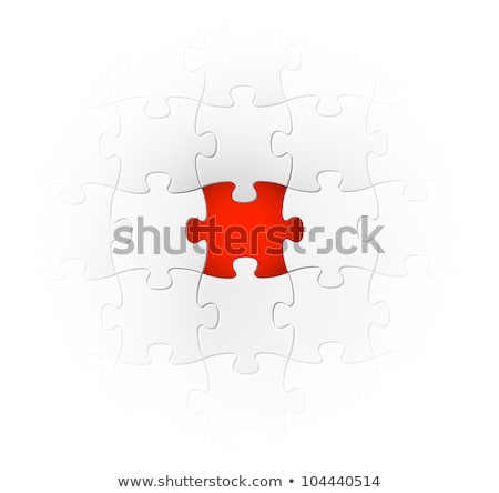 Vector background made from red puzzle pieces Stock photo © orson