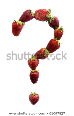 Question mark made of strawberries Stock photo © vankad