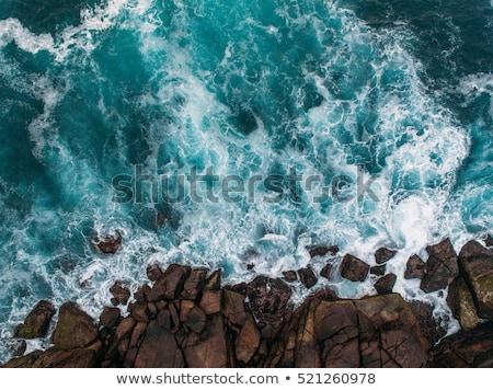 kaya · okyanus · deniz · Tayland · mavi - stok fotoğraf © ivz