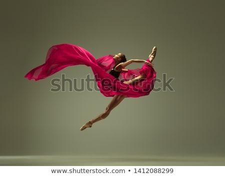 Dansçı genç kadın beyaz elbise güzellik dans Stok fotoğraf © ivz