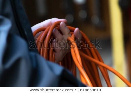 kordon · fiş · bilgisayar · çalışmak · ışık · ev - stok fotoğraf © stocksnapper