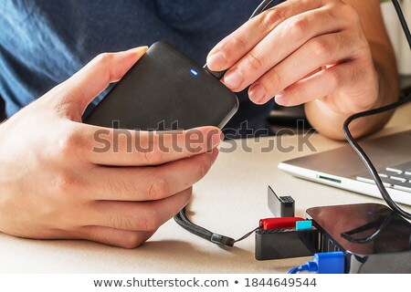 keyboard and usb devise stock photo © neirfy