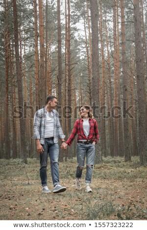 пару · ходьбе · луговой · трава · человека - Сток-фото © candyboxphoto