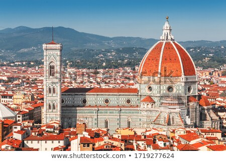 cathédrale · FLORENCE · Italie · vue · nuages · art - photo stock © wjarek