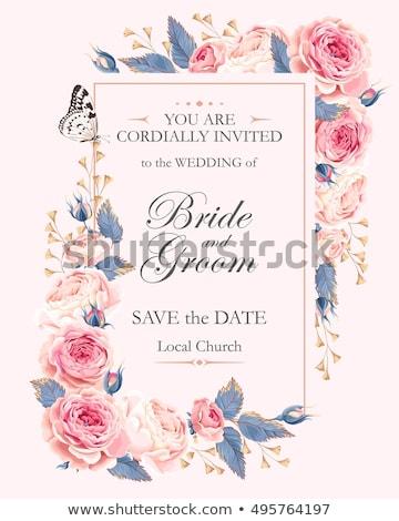 cartão · convite · casamento · anúncio · vetor · flores - foto stock © marish