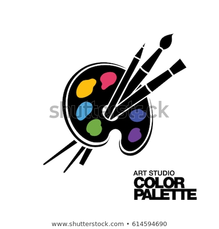 art · palette · couleurs · eau · texture - photo stock © tannjuska