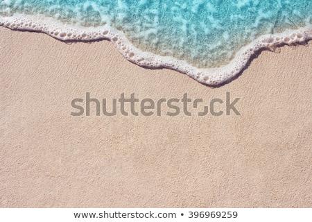 Homokos part azúr tenger kilátás repülőgép Stock fotó © saicle