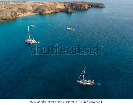 canárias · marrom · areia · praia · turquesa · água - foto stock © lunamarina