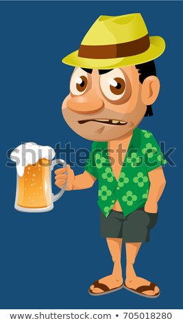 Oktoberfest background - man with beer stock photo © marish