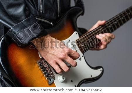 мужчины · музыканта · лице · играет · электрических · бас - Сток-фото © feedough