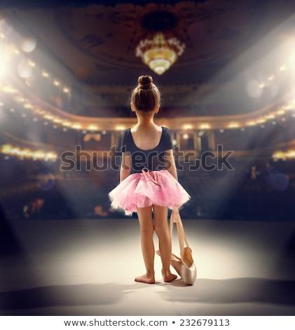 ragazza · ballerino · di · danza · classica · bambino · sfondo · arte · dancing - foto d'archivio © zzve