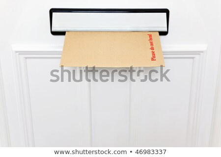 Please do not bend envelope in a letterbox Stock photo © RTimages