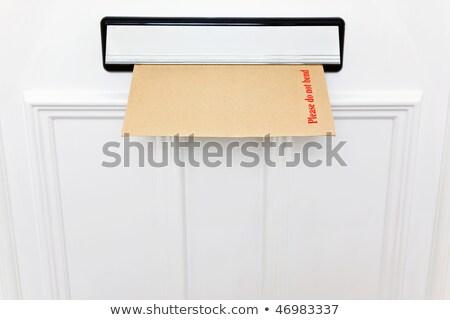 değil · zarf · beyaz · ön · kapı · uzay - stok fotoğraf © RTimages