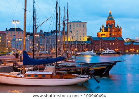 старые порта живописный ночь мнение район Сток-фото © maisicon