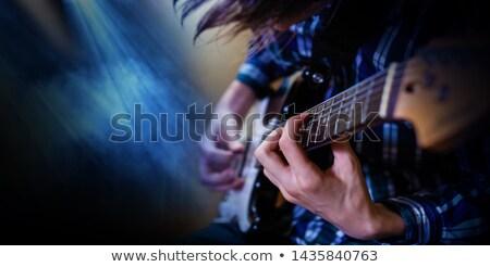рок гитарист вектора силуэта красочный прибыль на акцию Сток-фото © kovacevic