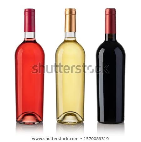 butelki · wino · czerwone · odizolowany · biały · wolna - zdjęcia stock © sumners