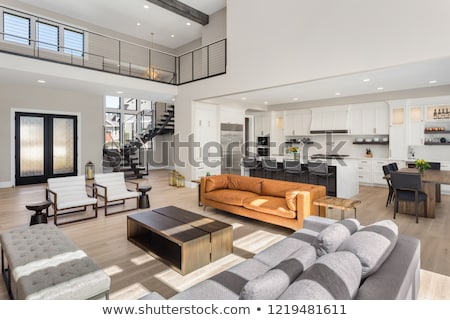 luxo · casa · sala · de · estar · interior · sala · de · jantar · financiar - foto stock © cr8tivguy