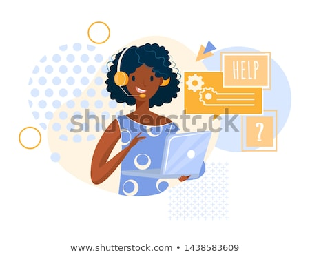 A black woman answering a hotline. Stock photo © photography33